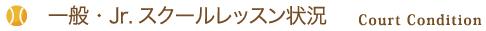 一般・Jr.スクールレッスン状況Court Condition